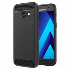 For Samsung Galaxy A3 2017 Carbon Fibre Gel Case Cover Shockproof & Stylus Pen