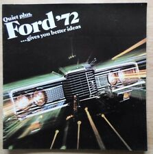 FORD orig 1972 USA Mkt Large Format Sales Brochure - LTD Galaxie 500 Custom 500