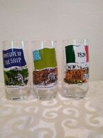 Coca Cola Heritage Collection Set Of 3 Glasses
