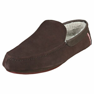 Ted Baker Valant Mens Brown Suede Slippers Shoes