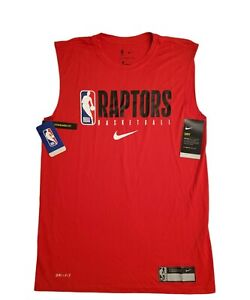 NIKE NBA TORONTO RAPTORS PLAYER ISSUED DRI-FIT Sleeveless Shirt SZ SMALL