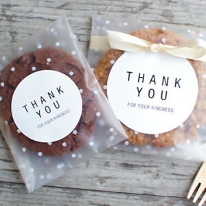 100Pcs Candy Cookie Bags Self-adhesive Biscuit Baking Packaging Candy Gift Bag