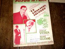 puisque je t'aime du film Le Chanteur Inconnu valse chantée piano chant 1931