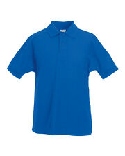 Kids Plain Cotton Polo T Shirt Boys Girls Child Children 13 Colours Uniform UK 7-8 Years Sky Blue