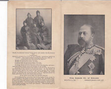 Bi-Fold , King Edward VII , England 1901 & ad Table Rock Niagra Falls Ontario