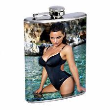Italian Pin Up Girls D7 Flask 8oz Stainless Steel Hip Drinking Whiskey Brandi