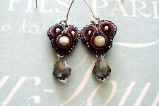 Soutache Dangle Earrings Handmade by Waking the DemiUrge