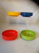 Rosti Mepal x 4 Mid Century Modern Serving Bowls Dishes Melamine