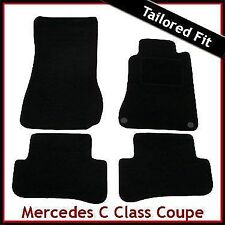 Tailored Carpet Floor Mats for MERCEDES C-Class Coupe CL203 2000-2011 BLACK