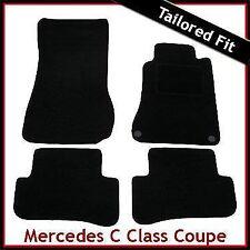 Tailored Carpet Floor Mats for MERCEDES C-Class Coupe CL203 2000-2011 BLACK