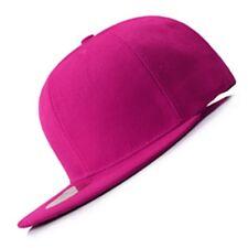 New Pink FLAT Peak SNAPBACK Plain Blank Cap Dancer Hat Chapeau #flat #cap