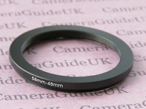 58mm to 48mm 58mm-48mm Stepping Step Down Filter Ring Adapter