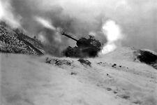 New 5x7 Korean War Photo: Tank of 6th Tank Battalion Near Song Sil-li, Korea