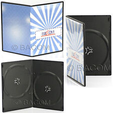 50 Custodie DVD Doppie SLIM Nere - BOX Nero SLIM per 2 DVD/CD Spedizione Gratis!