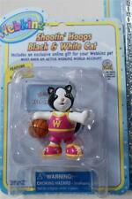 Webkinz Set-3 'Shootin Hoops Blk & Wht Cat Figurine+Necklace+Stickers' All NEW!
