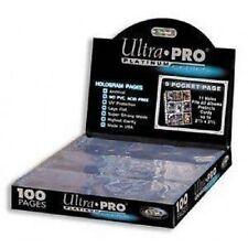 100 ULTRA PRO PLATINUM 9-POCKET Card Pages Sheets Protectors 1 Box 209D-1