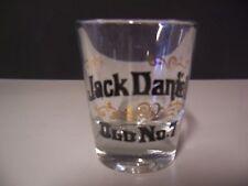 Jack Daniels Old No. 7  Shot Glass has GOLD Decor