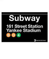 YANKEE STADIUM SUBWAY SIGN TIN NEW YORK YANKEES