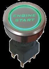 Car Engine Start Push Button 12V Ignition Starter Switch 'GREEN LED' MADE IN UK