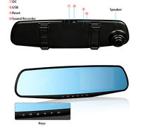 HD 1080P Car DVR Dash Camera Dual Cam Vehicle Front Rear DVR Lens Video Recorder