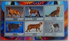 Domestic Cats Burmese Somali Savannah Devon Bengal cat m/s #1 Gabon 2017 #Vg2199
