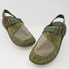 Chaco Woodstock Vibram Gunnison Mens Green Suede Performance Sandals Size US 8.5