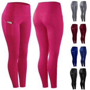 Damen Leggings Push Up Sporthose Fitness Gym Jogging Yoga Stretch Skinny Leggins