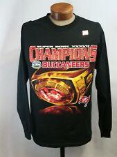 Tampa Bay BUCCANEERS 2003 Super Bowl Black Long Sleeve Tee Shirt Men Large NWT
