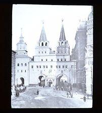 Glass Magic Lantern Slide Russia Iversky Gate Moscow GW Wilson