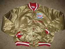 San Francisco 49ers Football 1990 Super Bowl Champs Chalk Line Satin Jacket XL