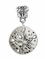 Sand Dollar Seashell Beach Shell Island Dangle Charm for European Bead Bracelets