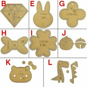 Cute Small Things Key chain Pendant Leather Craft Pattern DIY Stencil Sewing Set
