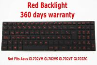 Teclado para Asus GL702VI ROG Strix GL702VI-WB74 Latino Keyboard Gaming Backlit
