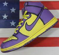 Nike Dunk High 1 Piece Premium Purple Yellow Vintage 2007 [318998-751] Mens 10.5