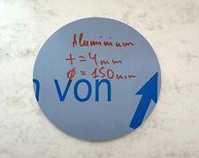 Ronde aus Aluminium AlMg3 Blech, 150 x 4 mm einseitig foliert Aluscheibe