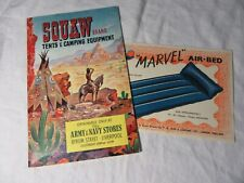 1955 SQUAW Brand TENTS & CAMPING Equipment - MINT Condition Catalogue