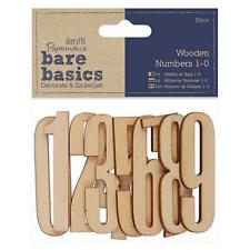 Docrafts Numbers 1-0 Bare Basics Wooden Shapes PMA174655