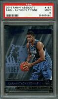 2015-16 panini absolute #167 KARL-ANTHONY TOWNS timberwolves rookie card PSA 9