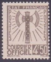 "FRANCE STAMP TIMBRE SERVICE N° 11 "" FRANCISQUE 4F50 OLIVE "" NEUF xx TTB"