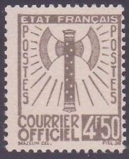"""FRANCE STAMP TIMBRE SERVICE N° 11 """" FRANCISQUE 4F50 OLIVE """" NEUF xx TTB"""