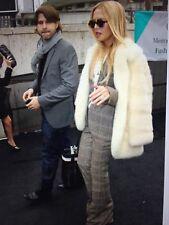 Beautiful  Real Genuine Mink Fur Coat Jacket Off White Blond Size M / L 12/14/16
