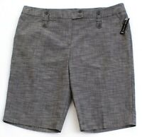 Larry Levine Gray Stretch Casual Shorts Women's NWT