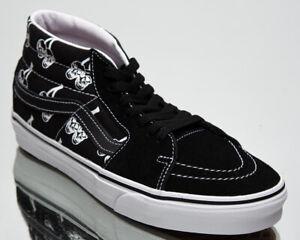 Vans Sk8-Mid Unisex Men's Women's Black White Skate Lifestyle Sneakers Shoes