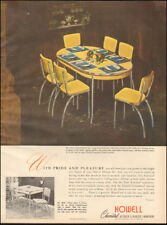 1949 Vintage ad for Howell Chromsteel Kitchen & Dinette Furniture    (030118)