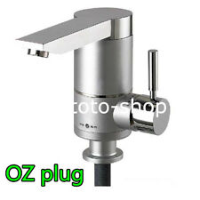 Instant Electric Water Heater Cold & Hot Tap Mixer Kitchen Sink Basin OZ Plug