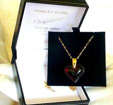 LALIQUE  beautiful red heart / 9ct gold chain stunning/investment