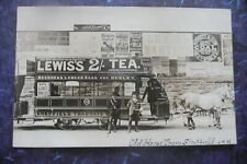 More details for old horse tram sheffield tea  advert real photo superb condition