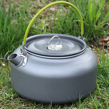 Aluminum Outdoor Camping Cooking Survival Pot Water Kettle Teapot Coffee Tool
