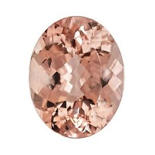 10.05ct 18x13mm Natural Oval Brilliant Cut Morganite Loose Gemstones