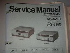 Panasonic Service Manual AG-6200  VCR Video Cassette Recorder Vol 1-5 AG-6100